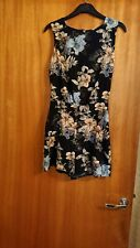 Ladies All In One Playsuit In Floral Print NWOT UK 8 by MISS SELFRIDGE