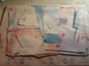 GREGORY OCHOCKI SIGNED LARGE 40 X 50 Inches ABSTRACT COLOR POSTER