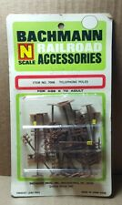 Vintage Bachmann N Scale Railroad Accessories #7006 Telephone Poles (F-4)