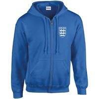 CHELSEA 3 LIONS CLUB AND COUNTRY SMALL CREST ZIP HOODIE MENS