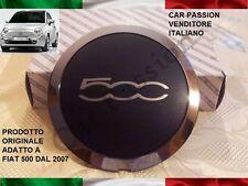 coppa ruota coprimozzo FIAT 500 ARGENTO ORIGINALE  fregio logo cerchi in lega