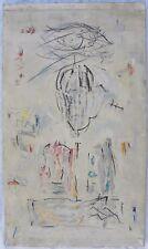 CAVELLINI (Brescia 1914-1990) Autoritratto Tecnica Mista anni '60/'70 cm 120x70