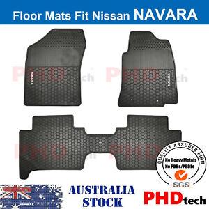 Premium Quality All Weather car floor mats Nissan Navara D40 Dual Cab 2008-2015