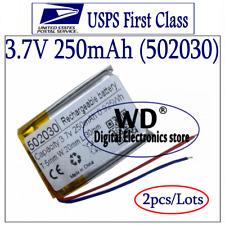 (2pcs) 3.7V 250mAh 502030 Lithium Polymer LiPo Rechargeable Battery