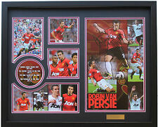 New Robin van Persie RVP Signed Manchester United Limited Edition Memorabilia