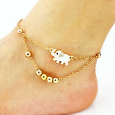 Women Girl Gold Plated Chain Anklet Bracelet Foot Barefoot Sandal Beach Jewelry