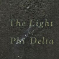 The Light of Phi Delta Tenth Anniversary Sorority Yearbook 1928 College History
