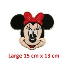 Disney Minnie Mouse Embroidered Iron On / Sew On Applique Patch Badge  LARGE