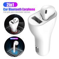 Bluetooth Wireless Earphone Cigarette Lighter USB Car Charger Headset  Earbud