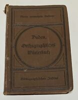 ☘️Antique Hard Cover German Book Duden, Orthagraphifches Worterbuch 1895 Rare