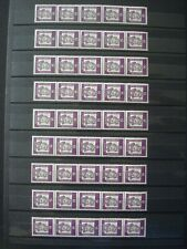 GERMANY DDR 1965 + BERLIN 1961 ROLLER 2 x 9 STRIPS OF 5 MNH** 2 SCANS