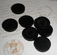 10 pc 12mm inner Antique Black Wooden Cameo Cabochon Base Setting / Tray / Bezel
