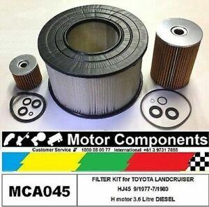 FILTER KIT for TOYOTA LANDCRUISER HJ45 H motor 3.6 Litre DIESEL 9/77-7/80
