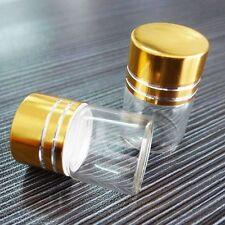 10pcs Tiny Small Glass Bottle Clear Empty 5ml Bottles Glass Vials W/ Screw Cap