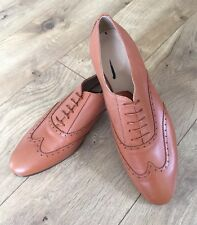 J Crew Leather Wing-Tip Oxfords Warm Cognac Brown Sz 9.5 Style# B0390 $258 New