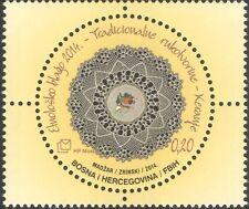 BOSNIE HERZEGOVINA 2014 folk art/Lace-Making/Crafts/TEXTILES 1 V (b2756s)