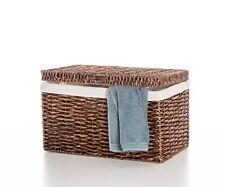 Truhe Wäschetruhe Wäschekorb aus Wasserhyazinthe Bali braun 50cm