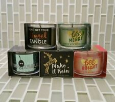 Bath & Body Works Candles Mini Trial size Boxed Candles- 1.3 oz - (no lids)