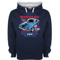 Licenced Ford Mustang Hoody Hoodie Classic Cobra Jet Muscle Car Retro Sweatshirt