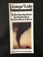 1993 Geauga Lake Aurora, Ohio Amusement Park Brochure with Map Inside