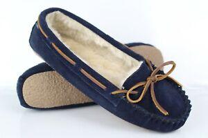 Minnetonka Moccasins Women's Cally Slipper Navy Blue # 4014