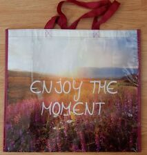 REUSABLE SHOPPING TRAVEL TOTE BAG ENJOY MOMENT ECO FRIENDLY MARSHALLS NEW