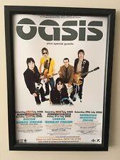 Oasis July 2000 Tour  A4 260gsm Framed Poster