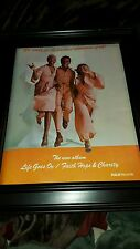 Faith Hope & Charity Life Goes On Rare Original Promo Poster Ad Framed!