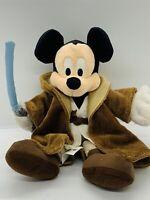 STAR WARS Jedi Mickey Mouse Walt DISNEY World Exclusive Bean Bag Plush 10 Inch