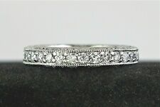 $9,990 Tacori Platinum Eternity Diamond 3.6mm Classic Crescent Wedding Band Ring