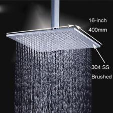 Chrome 16'' Square Rainfall Rain Shower Head Bathroom Bath Head