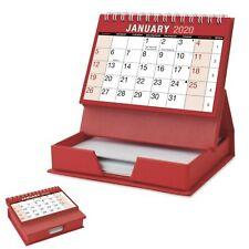 Desktop Calendar & Memo Pad - Month to View - 2020 - Red