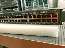 Brocade FastIron FCX648S, GIGABIT 48 Port Switch w/ 2 Power Supplies