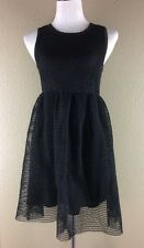 Black Sleeveless Dress Size M Fit And Flair Skater Party Above Knee Mini Sheath