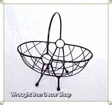 Wrought Iron Fruit Basket Holder Rack Storage Handmade Metal Kitchen  Decoration