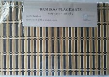 "Bamboo placemat - Benson Mills 12""x18  table  protector  set of 6"