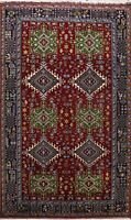 Tribal Geometric Hand-knotted Area Rug Traditional Oriental Wool Carpet 7x9 New