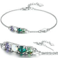 Echt Armband Kette Silberarmband Sterling Silber 925 Damen + SWAROVSKI® Elements