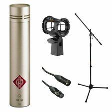 Neumann KM 184 MT Microphone (Nickel) With Suspension Shockmount & Mic Stand