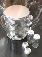 Edelstahl Gewürzständer mit 12 Gewürzstreuer Gewürzkarussell Gewürzebehälter neu