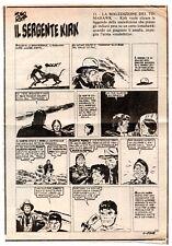hugo pratt IL SERGENTE KIRK puntata 202 ritaglio da quotidiano 1979 SGT sargento