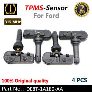 4PCS OEM DE8T-1A180-AA Genuine for Ford Motorcraft Tire Pressure Sensors TPMS