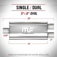 Universal Muffler Silencer 2.25/2 S/D Oval 5 x 8 x 14 Magnaflow 12148
