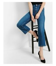 Express Women's High Rise Straight Crop Jeans Size 6