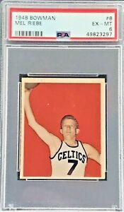 1948 Bowman Basketball Mel Riebe RC #8 Graded PSA 6  EX/MT Celtics