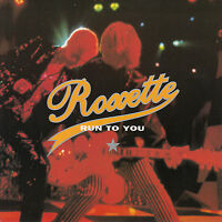 "ROXETTE  Run To You  PICTURE SLEEVE 7"" 45 rpm record + juke box title strip"