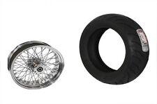 "60-Spoke x 16"" chrome wheel & 200 Avon tire - Complete Kit, Mounted & Balanced"