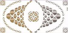 Temporary Flash Einmal Tattoo Classic gold silber 11 Teile Halskette Kette NEU