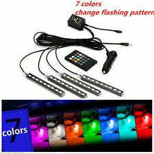 LED RGB Car Interior Atmosphere USB Lights Strip Colors Decor Lamps Footwell 12V