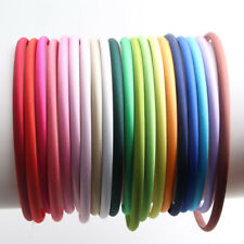 10 Candy Plastic Mixed Color Headband Covered Satin Hair Band 10mm for DIY Craft